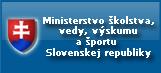 logo Ministerstva školstva, vedy, výskumu a športu Slovenskej Republiky